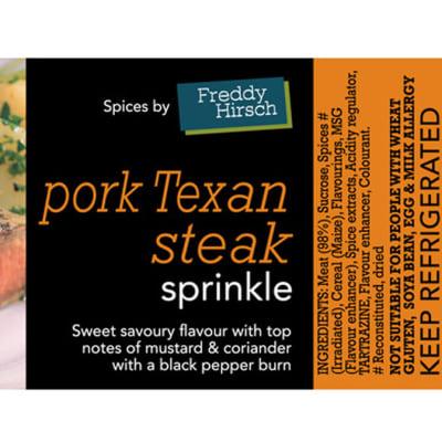 Sprinkles - Pork Texan Steak Label image