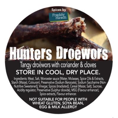 Droewors - Hunters Droëwors Label image