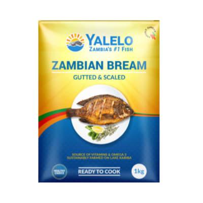Frozen Yalelo Zambian Bream Gutted & Scaled - 1kg image