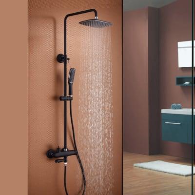 Bathroom shower - Full bathroom hot and cold black shower - 0003 image