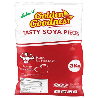 Golden Goodness - Tasty Soya Pieces - 3kg image