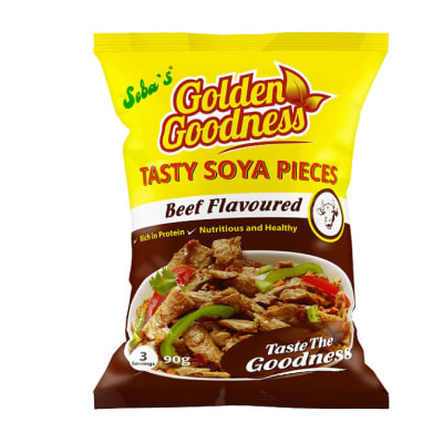 Golden Goodness Beef Flavoured Tasty Soya Pieces  40 X 90g image