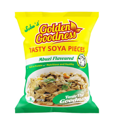 Golden Goodness Mbuzi Flavoured Tasty Soya Pieces   20 X 90g  image