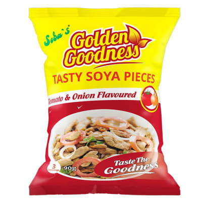 Golden Goodness - Tasty Soya Pieces - Tomato & Onion Flavoured image