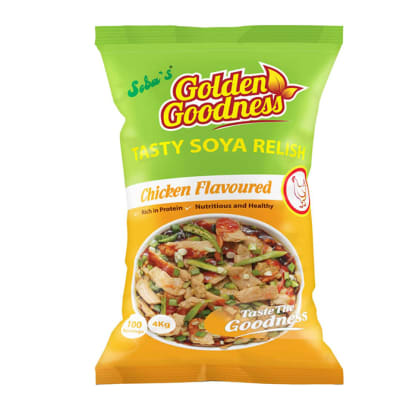 Golden Goodness - Tasty Soya Relish Chicken Flavoured image