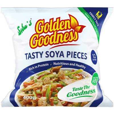 Golden Goodness - Tasty Soya Pieces - 400g image