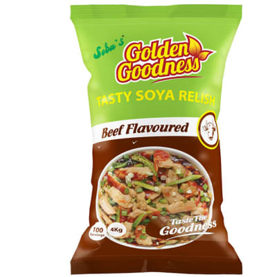 Golden Goodness - Tasty Soya Relish Beef Flavoured  4 x 4kg (100 Portions) image