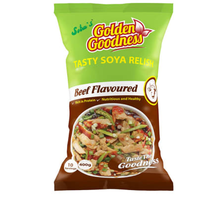 Golden Goodness Soya Relish 400g - Beef flavoured image