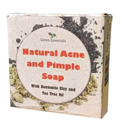 Natural Acne & Pimple Soap  with Bentonite Clay &  Tea Tree Essential Oils image