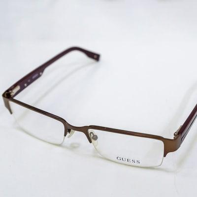 Guess Semi-Rimless Eyeglass Frames - Matte Brown  image