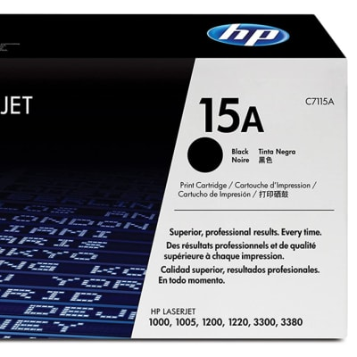 Printer Toner Cartridges - Hewlett Packard 15A (HP C7115A)  Black Toner Cartridge  image