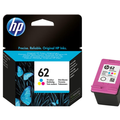 Hp 62 Tri-Colour Ink Cartridge  image
