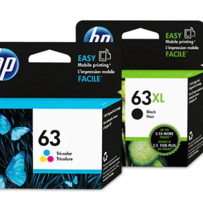 Hp 63xl  Black & Colour Cartridges image