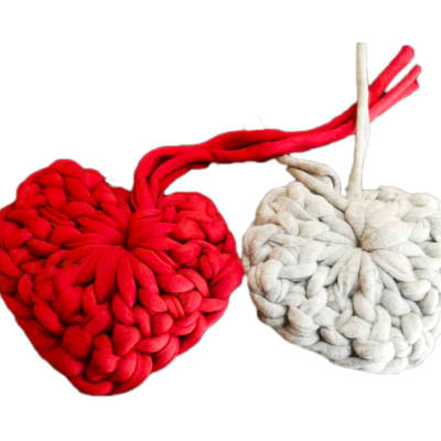 Handmade Yarn Hearts  image