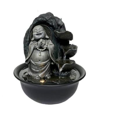 Water Feature  Happy Buddha Statue Decorative image
