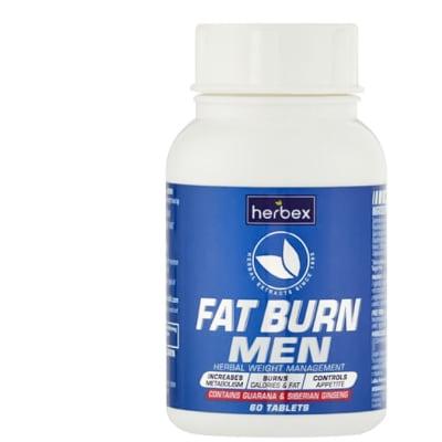 Fat Burn Tablets for Men  Contains Guarana & Siberian Gingseng 60 Tablets image