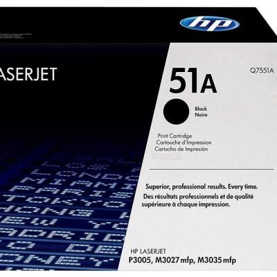 Printer Toner Cartridges - Hewlett Packard 51A (HP Q7551A) Black Toner Cartridge  image