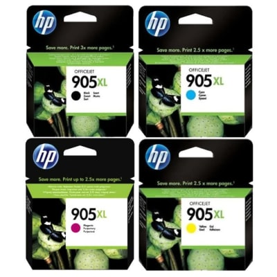 Hp 905xl  High Yield  Black & Colour Ink Cartridges  image
