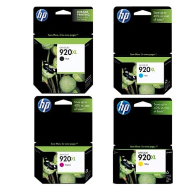 Hp 920xl  Assorted Colour High Yield Ink Cartridges  image