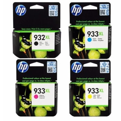 932xlb/ 933xl Black & Colour High Yield Ink Cartridges image