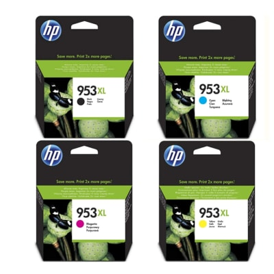 Hp 953xl  Black & Colour High Yield Ink Cartridges image