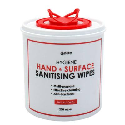 Sanitising Wipes  Impo Hygiene  Hand & Surface  image