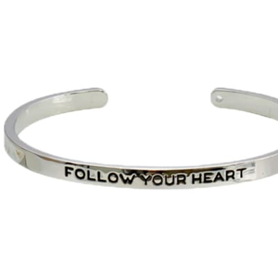 """Sentiments  Bangle """"Follow Your Heart"""" image"""