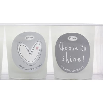 """Sentiments  """"Light Your Own Way"""" Candle Trio image"""