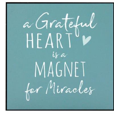 """Wall Art  Inspirational Message """"A Grateful Heart..""""  image"""