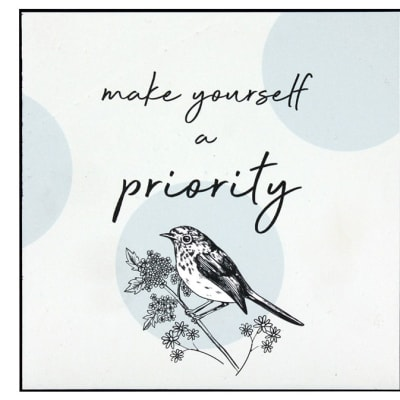 Wall Art Inspirational Make Yourself a Priority  image