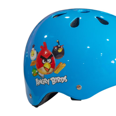 Helmet Kids Angry Birds for Cycling & Skating Blue  image