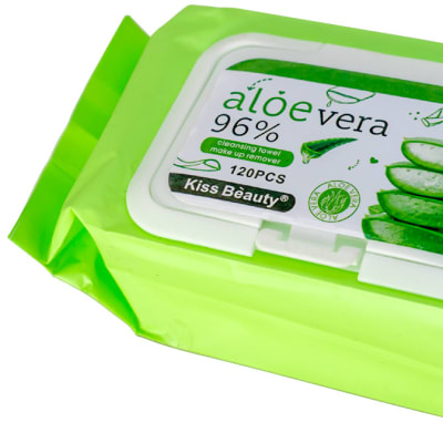 Kiss Beauty  Cleansing Towel Make up Remover Aloe Vera  Facial Wipes  image