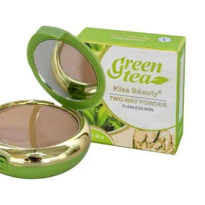 Kiss Beauty  Green Tea Two-Way Facial Powder  image