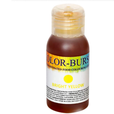 Kolor-Burst Concentrated Food Colouring Gel  Bright Yellow  50ml image