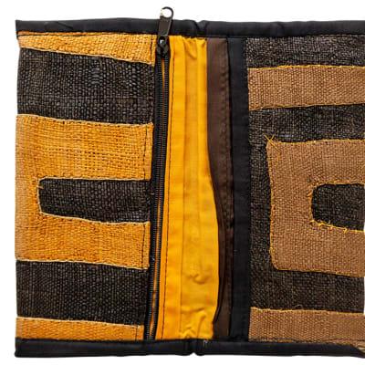 Wallets Kuba Cloth Dark and Light Brown Pattern image