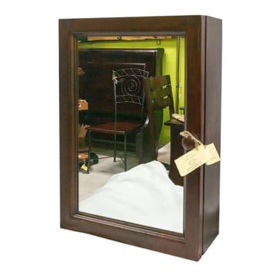 Bathroom Vanities - Wooden Mountable Bathroom Cabinet with Mirror Door image