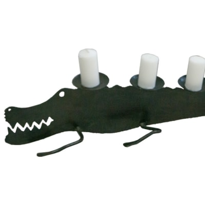 Candle Holders - 5 Candle Crocodile Stick Holder image