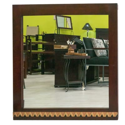 Mirrors - Large Mirror with copper trim  image