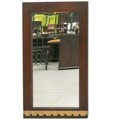 Mirrors - Long Mirror with copper trim image