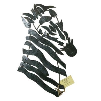 Wall Hanging - Artistic Metal Zebra head image