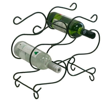 Storage Holders & Racks -Thin curled round bar Wine Rack image