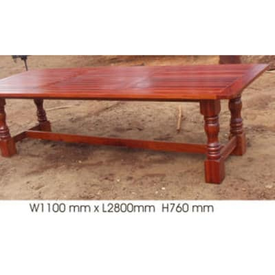 Dining table 10-seater with 4 turned legs image