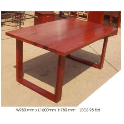 Dining table 6-seater mock 4cm top image
