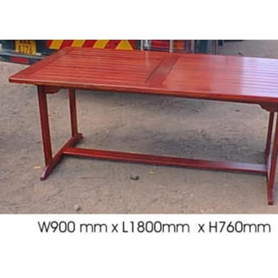 Dining table Slatted 6-seater image