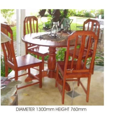 Dining table Tonga small round turned image
