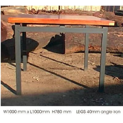 Dining table mock 4cm top 4 steel legs image
