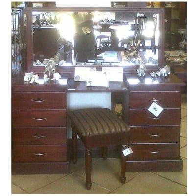 Dressing table 8-drawer & mirror image