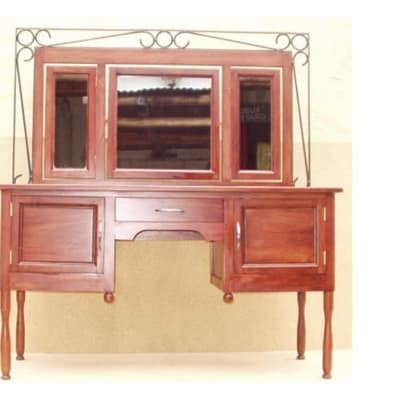Dressing table Large with steel trim image