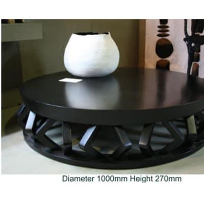 Low round diamond coffee table painted image