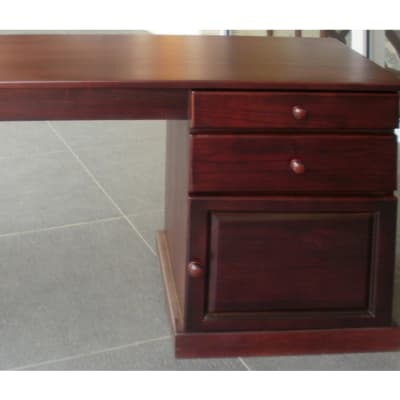 Solid teak medium desk image